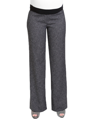 Gabby Stretch Tweed Maternity Pants