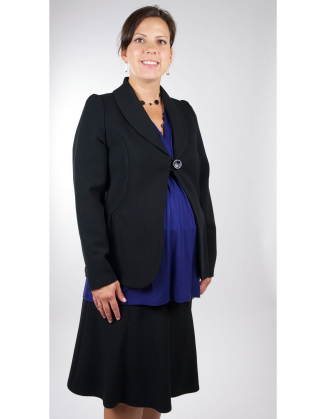 Maternity Blazer With Button