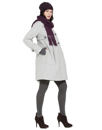 Winter Maternity Coat With Adjustable Belt