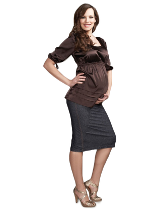 Satin Maternity Top