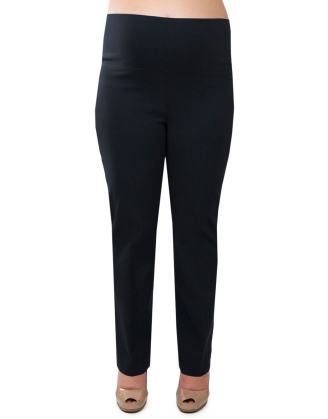 Black Phoenix Foldover Long Maternity Pants