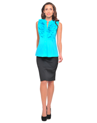 Poplin Sleeveless Maternity Shirt