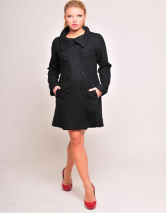 Black Maternity Coat