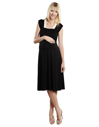Black Sweetheart Maternity Dress