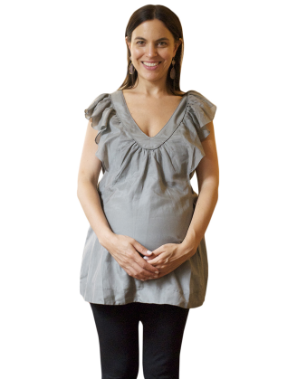 Gray Rachael Maternity Top