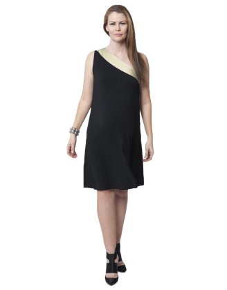 Cosma Black/Gold Maternity Dress