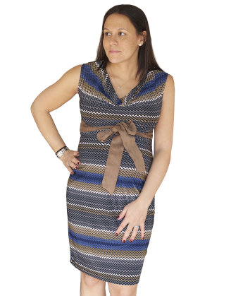 Zig Zag Maternity Dress