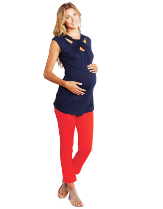 Loop Neck Maternity Top