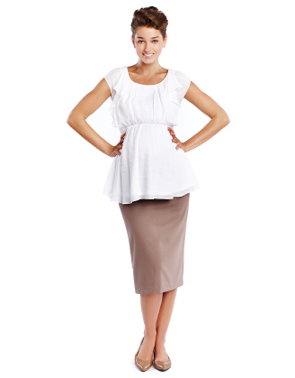 Belly Support Pencil Maternity Skirt