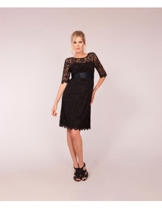 Ingrid Black Maternity Dress