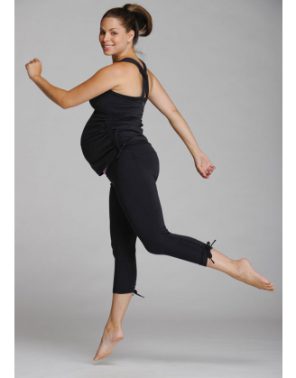 Tulip Black Workout Maternity Top