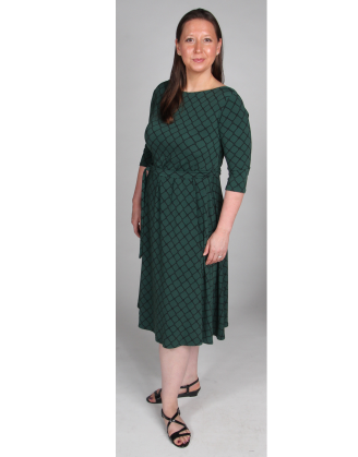 Scoop Back Dark Forest Illiana Maternity Dress