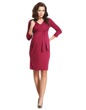 Holly Red Maternity Dress