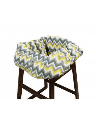 Shopping Cart/High Chair Cover (Sunshine Chevron)