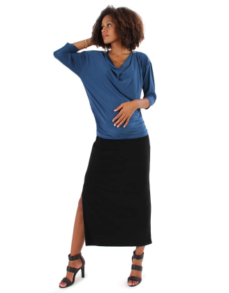 Luxe Maternity Skirt With Slit