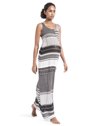 Quilted Arrows Maxi Tank Maternity Dress