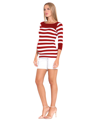 Sol Red Maternity Top