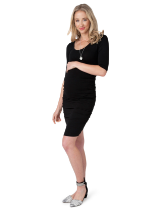 Black Cocoon Maternity Dress