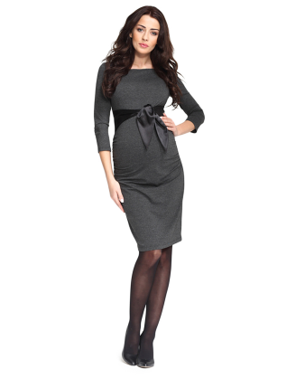 Dacja Anthracite Melange Maternity Dress