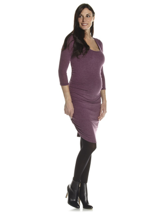 Shirred Mulberry Maternity Dress