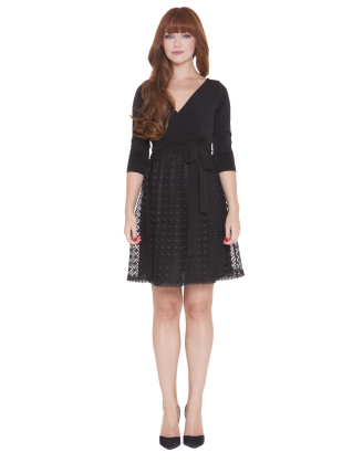 Eloise Long Sleeve Lace Maternity Dress