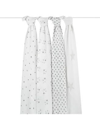 Twinkle 4 Pack Swaddle Set