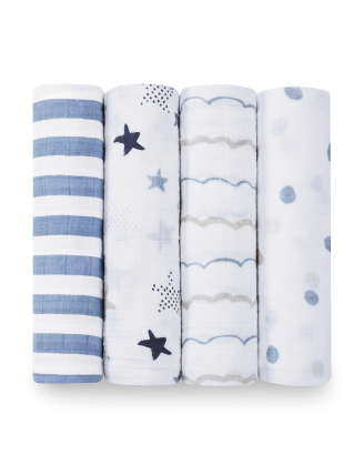 Rock Star 4 Pack Swaddle Set