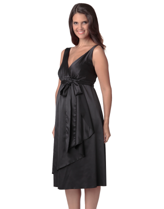 Claire Satin Maternity Dress