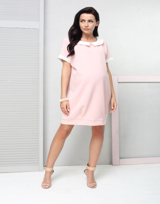 Tosca Pink Maternity Dress