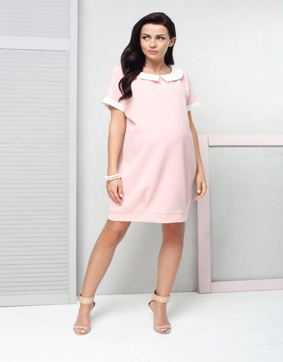 Tosca pink maternity dress ombrellifo Gallery