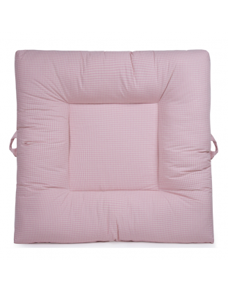 Pink Gingham Upholstered LaLaLounger
