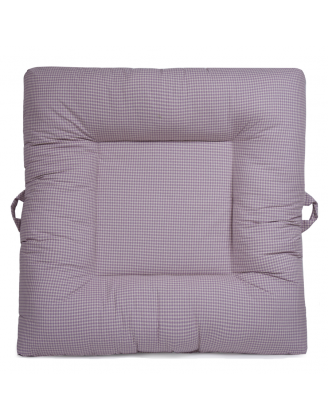 Purple Gingham Upholstered LaLaLounger
