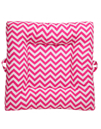 Zig Zag Pink Upholstered LaLaLounger