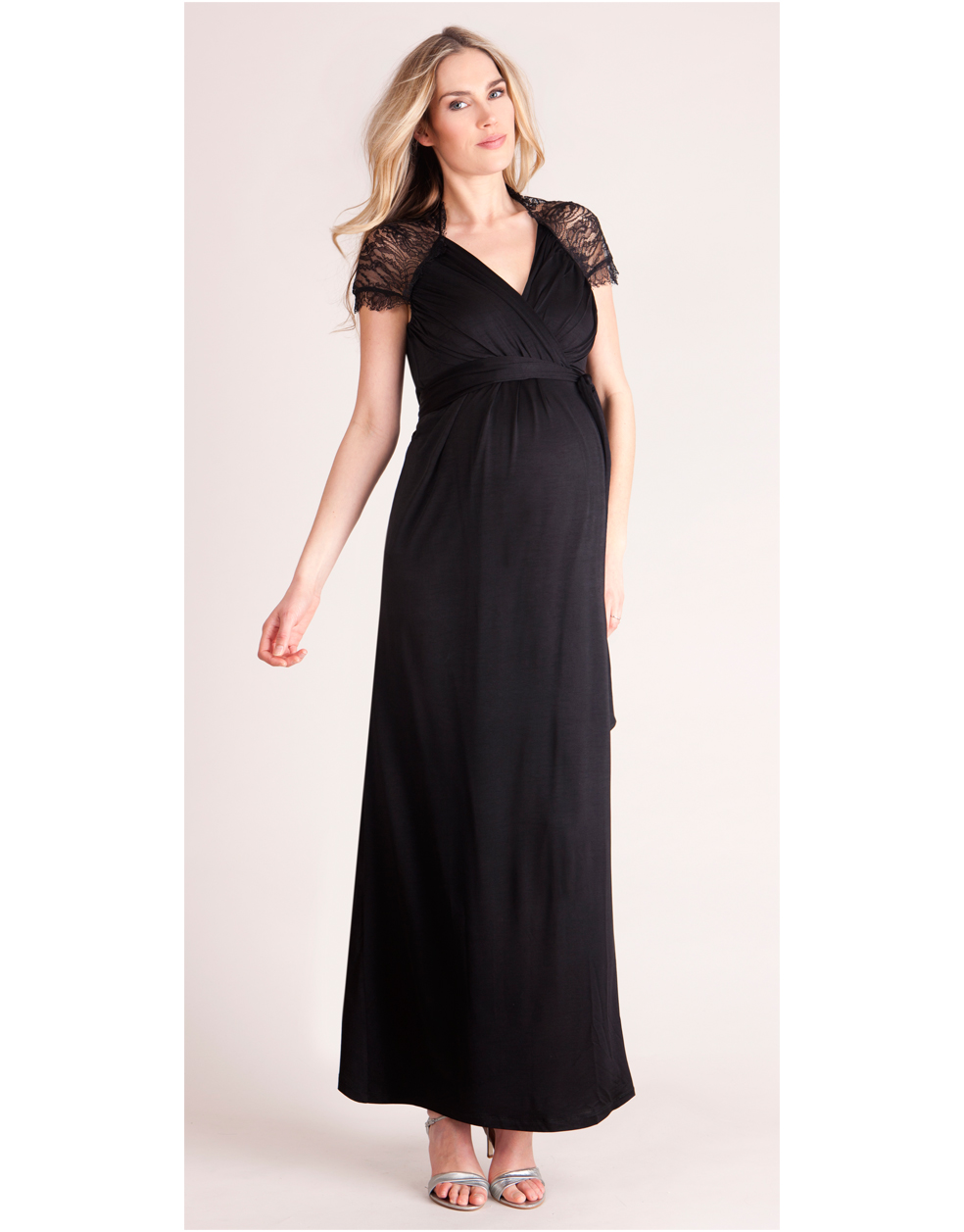 Chelsey black maxi maternity dress close ombrellifo Gallery