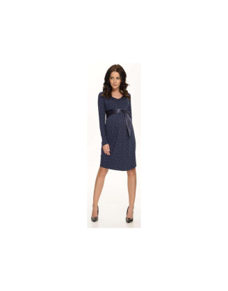 Cety Navy Maternity Dress