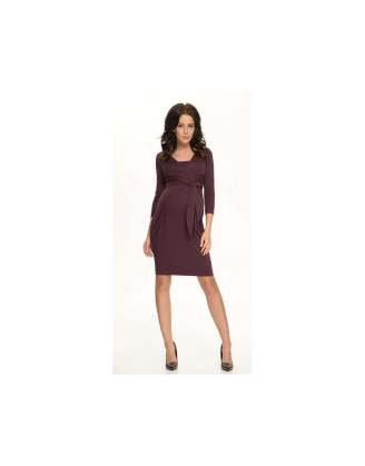 Holly Amethyst Maternity Dress