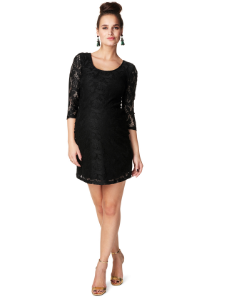 Leo Black Maternity Dress