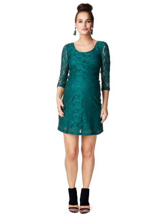 Leo Teal Maternity Dress