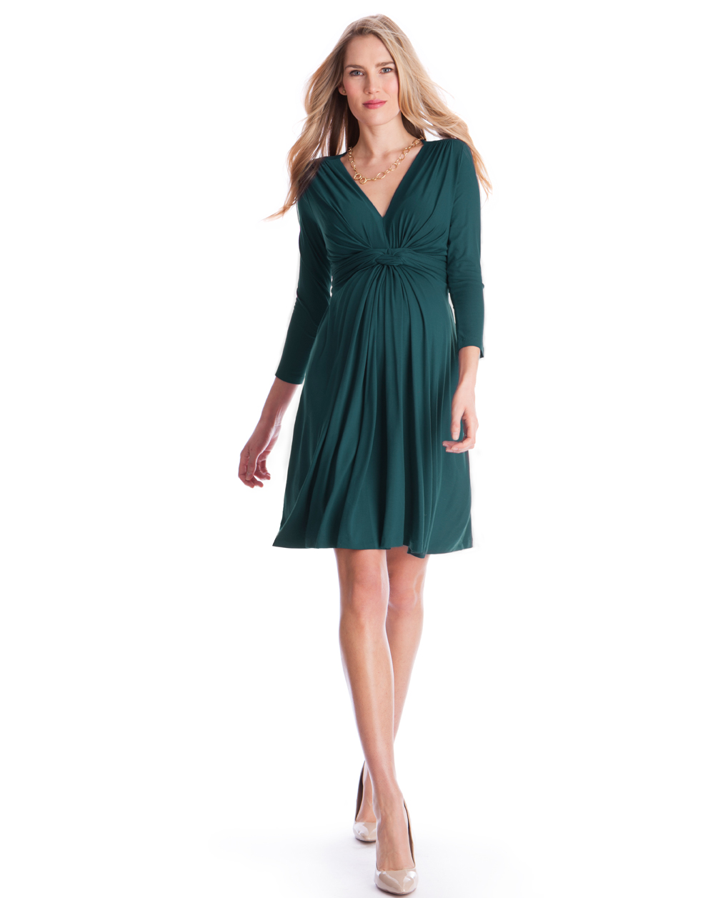 Maternity clothes rental affordable pregnancy wear dress clothes jolene 34 sleeve dark green designed by seraphine ombrellifo Image collections