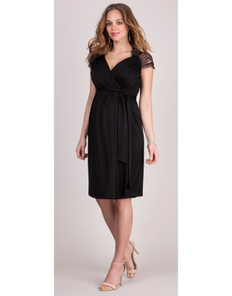Chelsey Black Short Maternity Dress