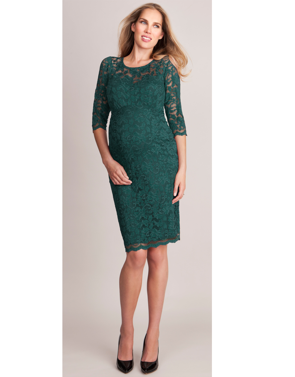 86958b3e80b10 Seraphina Forest Green Maternity Dress