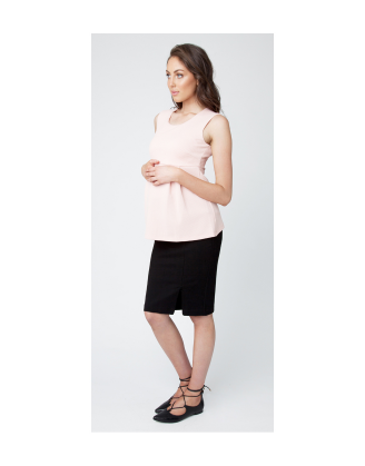 Zeta Zip Ponte Maternity Skirt