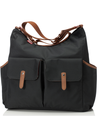 Frankie Black Diaper Bag