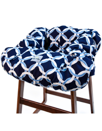 Shopping Cart Cover - Social Circle Blue