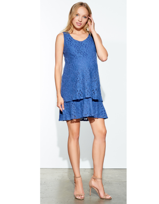 Lace Layer Maternity Dress