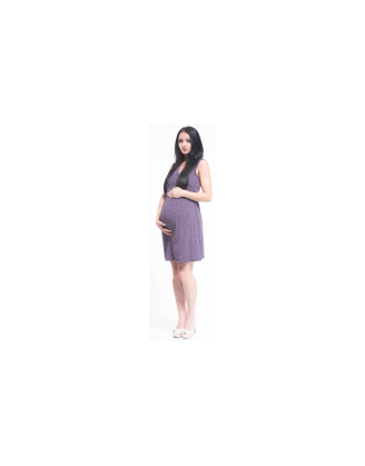 Sophia Purple Maternity Dress