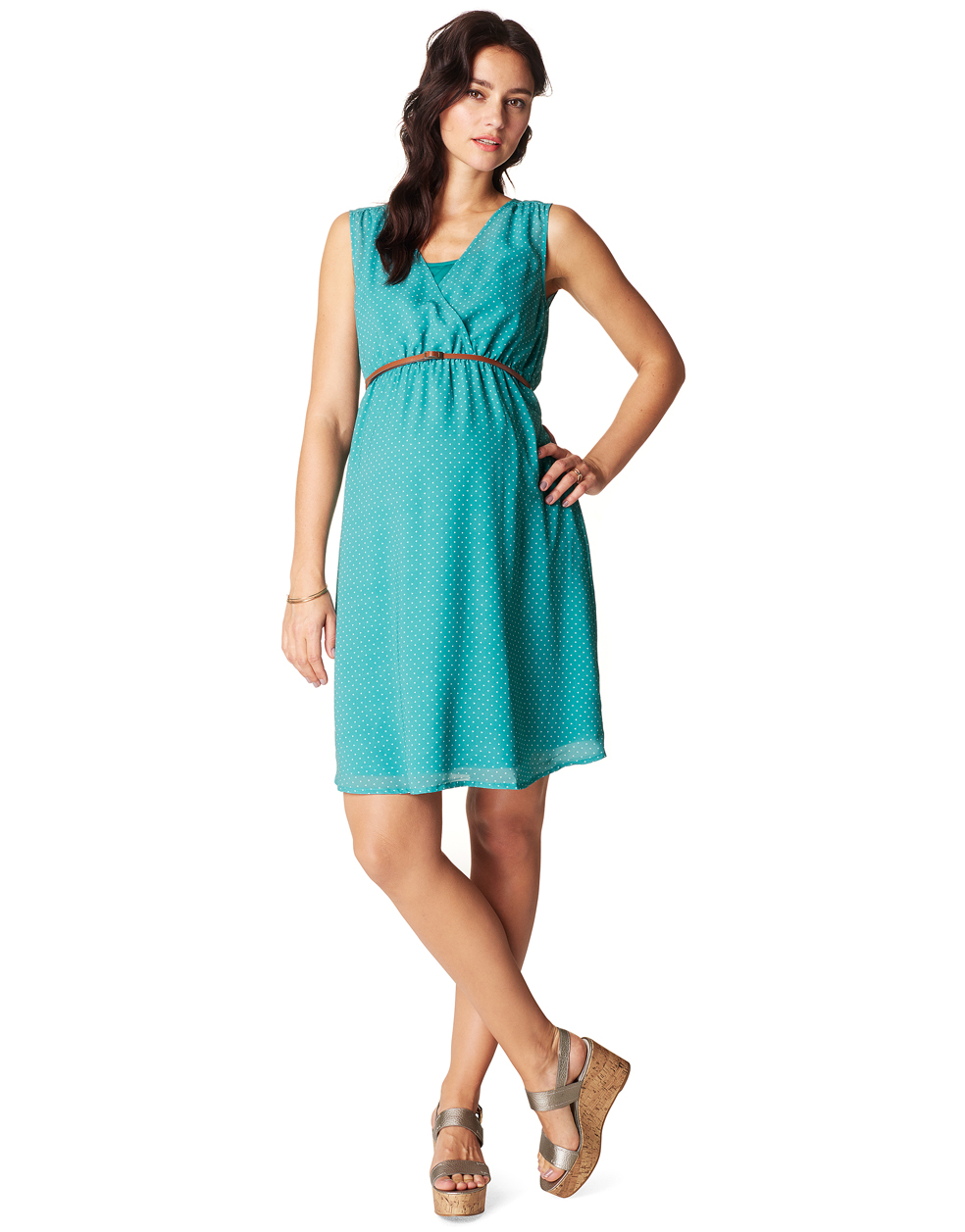 Marit Turquoise Maternity Dress