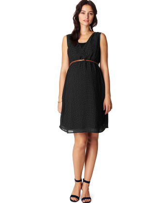 Marit Black Maternity Dress