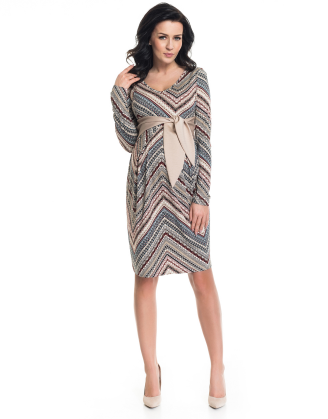 Cety Beige Maternity Dress