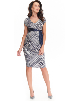 9Fashion Cety Dark Blue Maternity Dress
